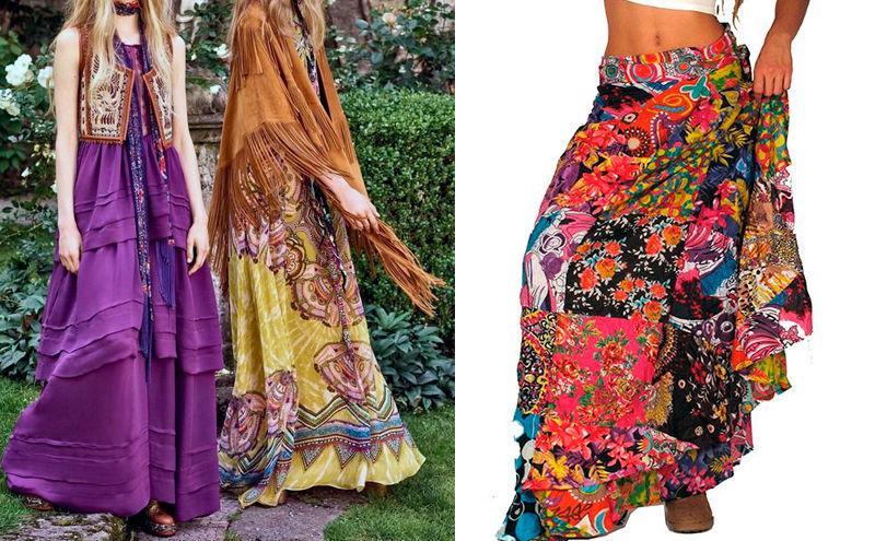 Mujeres con faldas hippies
