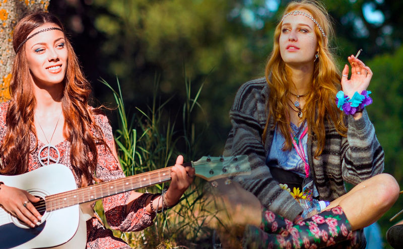 Mujeres con ropa hippie