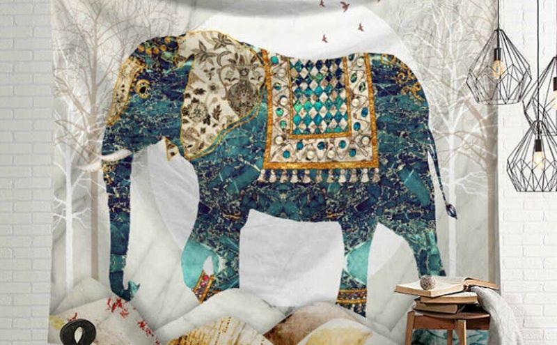 Tapiz elefante hippie