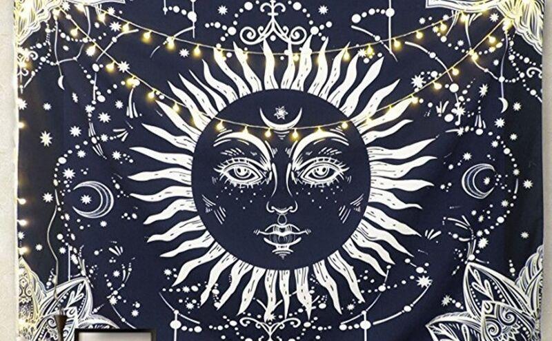Tapiz sol y luna hippie