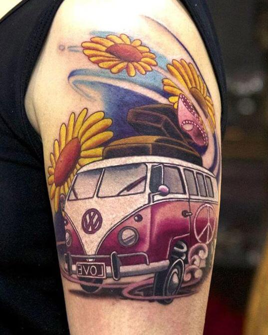 Tatuaje furgoneta Volkswagen