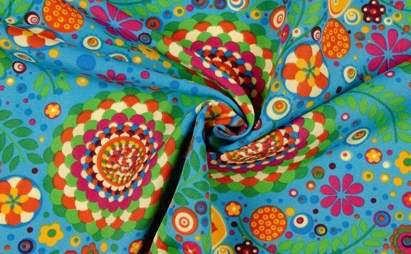 Tela colores hippie