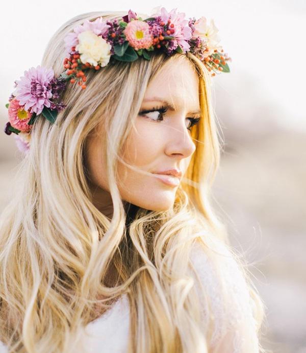 diadema flores hippies
