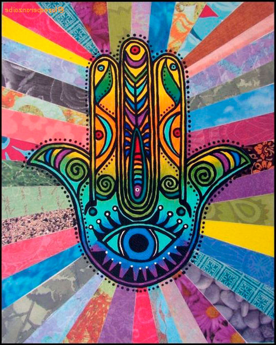 Dibujo de Mano hippie