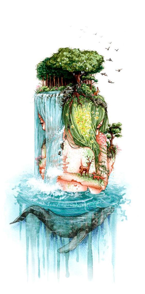 Dibujo Naturaleza hippie