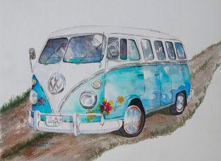 Dibujo de Furgoneta Volskwagen