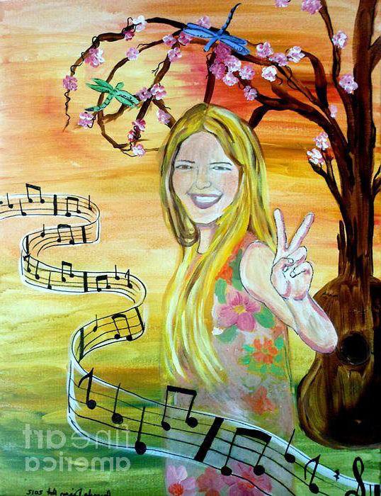 Dibujo hippie música