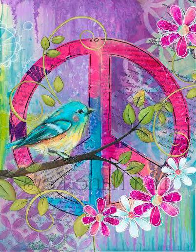 Dibujo del símbolo de la paz