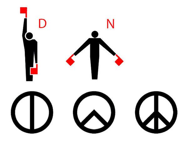 explicacion simbolo hippie paz