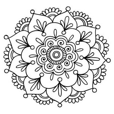flor hippie para colorear