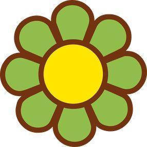 flor verde hippie