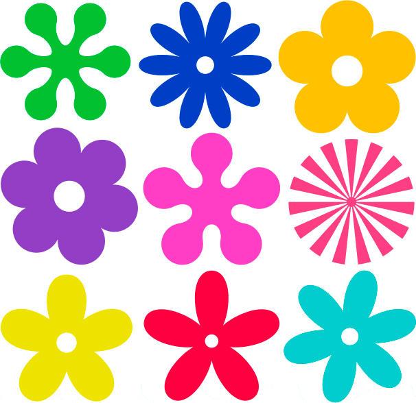 flores imprimir coloridas