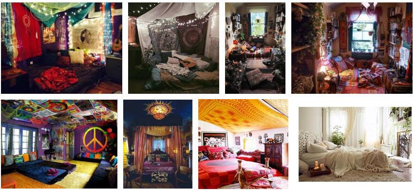 habitaciones y dormitorios hippies