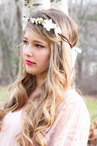 Peinados novias hippies