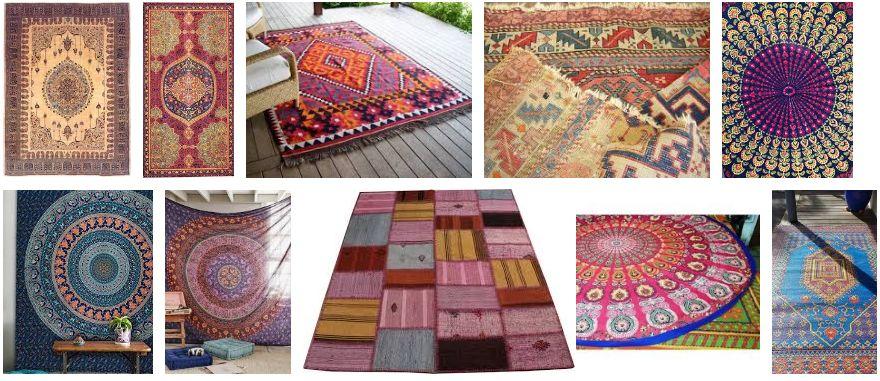modelos alfombras hippies