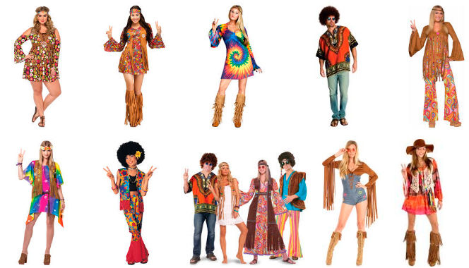 modelos de disfraces hippies
