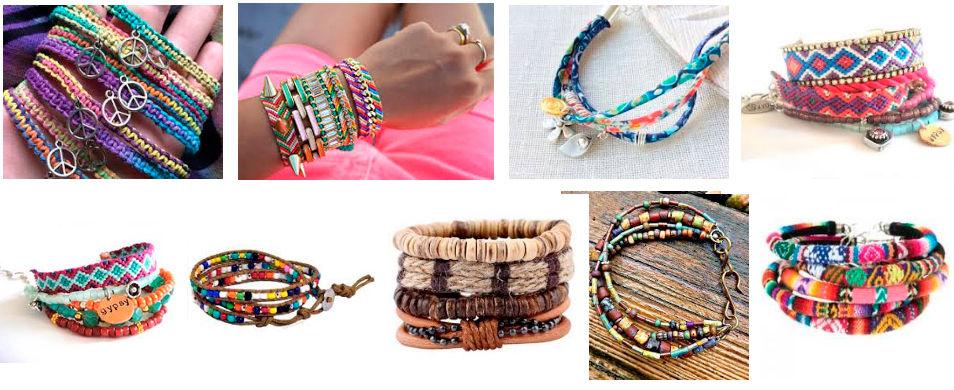 modelos de pulseras hippies