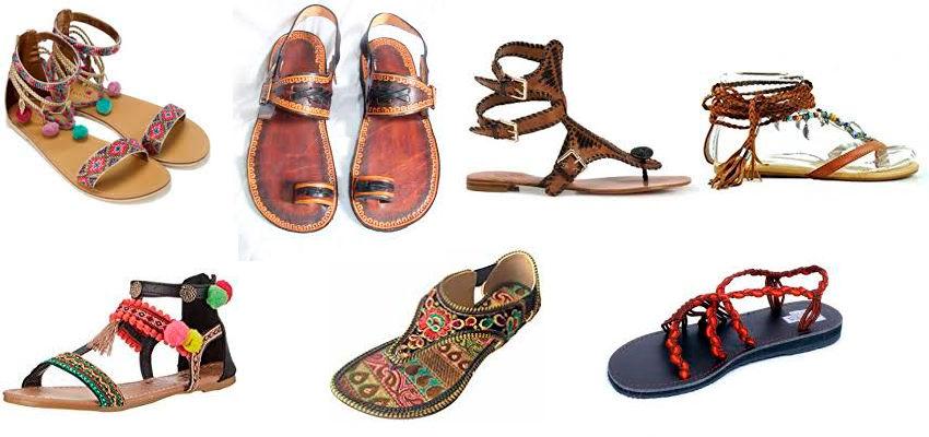 modelos de sandalias hippies