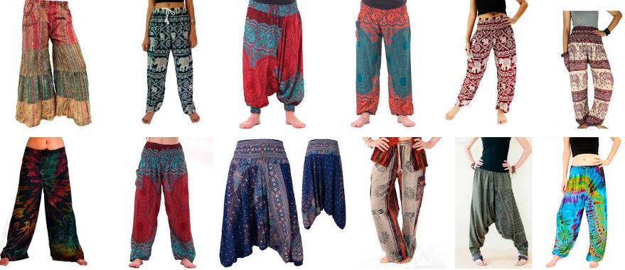 modelos de pantalones hippies