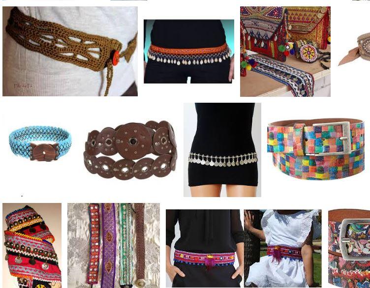 Mujeres con cinturones hippies etnicos