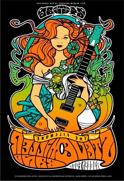 Dibujo Mujer con guitarra