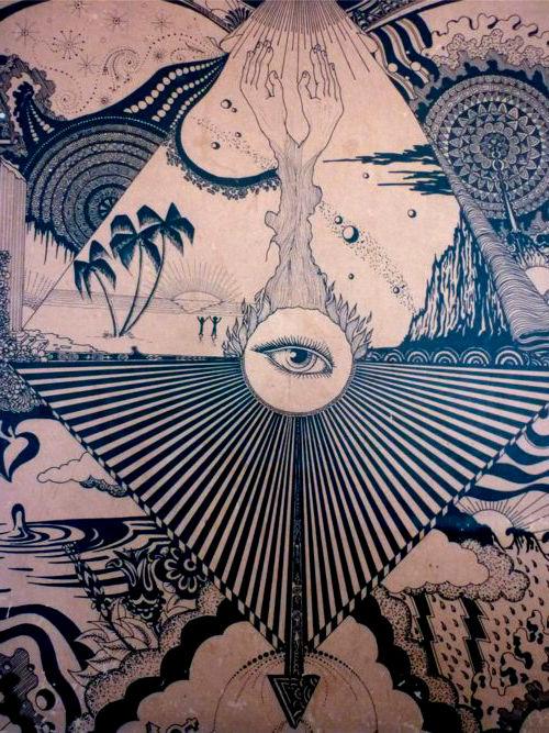 Dibujo ojo hippie