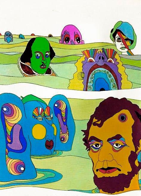 Dibujo Presidentes hippie