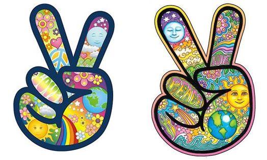 simbolo mano hippie
