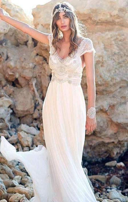 ▻ vestidos de novia hippies estilo boho-chic ❤ | colección 【 2018 】